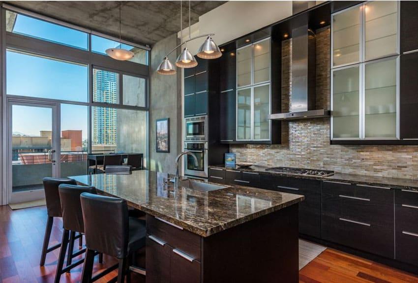 unfinished kitchen cabinet doors molding 35 luxury kitchens with dark cabinets (design ideas ...
