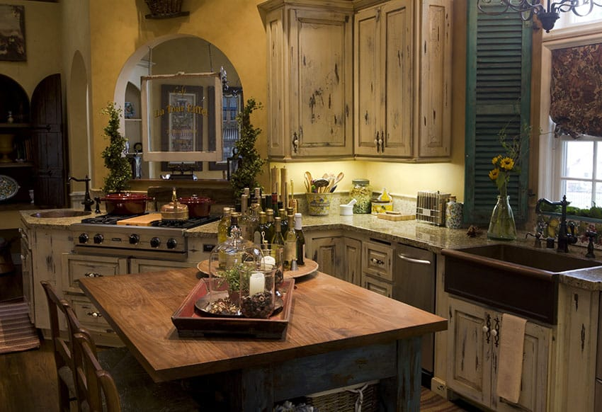 rustic kitchen sink solid oak island 26 farmhouse ideas decor design pictures designing idea with copper and distressed cabinetry