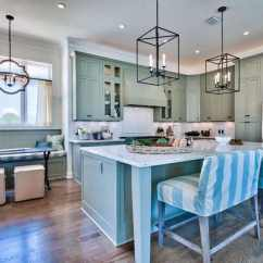 Small Lamps For Kitchen Counters Home Styles Cart 25 Blue And White Kitchens (design Ideas) - Designing Idea