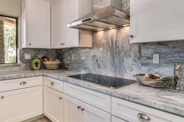 white kitchen with grey granite 30 Gray and White Kitchen Ideas - Designing Idea