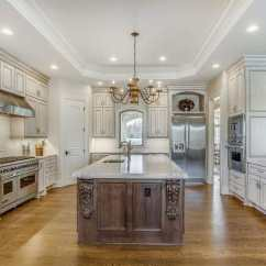 Antique White Kitchen Cabinets Remodeling Lincoln Ne Design Photos Designing Idea Luxury With Carrara Marble Counter Island And Walnut Floors