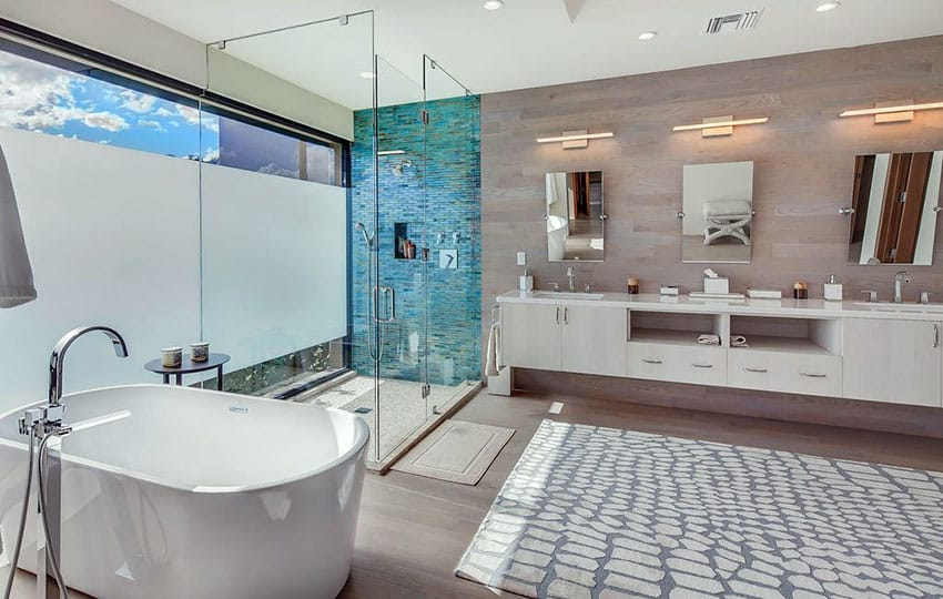 40 Modern Bathroom Design Ideas (Pictures)