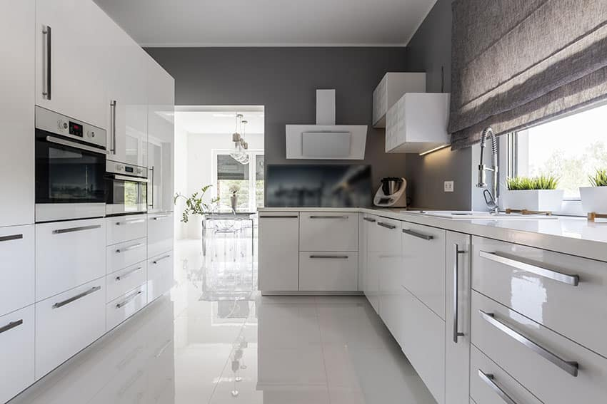 black pull handles kitchen cabinets vintage faucet 28 modern white design ideas (photos) - designing idea