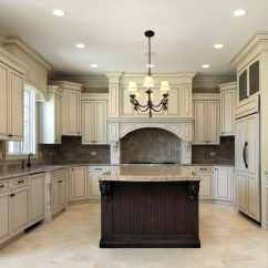 Antique White Kitchen Cabinets Island With Marble Top How To Paint Look Designing Idea And Dark Brown Center Beige Granite Countertops