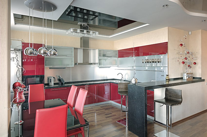27 Red Kitchen Ideas Cabinets  Decor Pictures