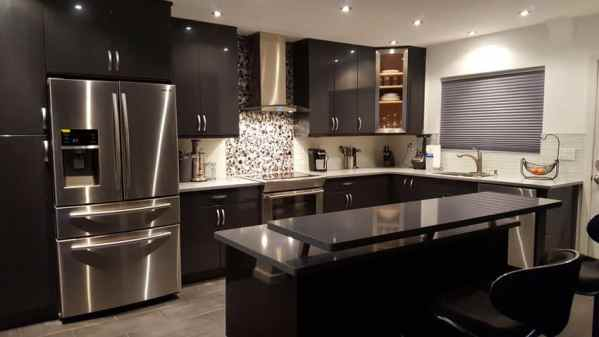 beautiful black kitchen cabinets Beautiful Black Kitchen Cabinets (Design Ideas