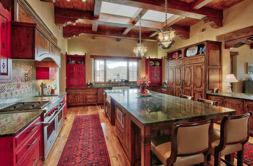 high top kitchen table set islands with seating 27 red ideas (cabinets & decor pictures ...