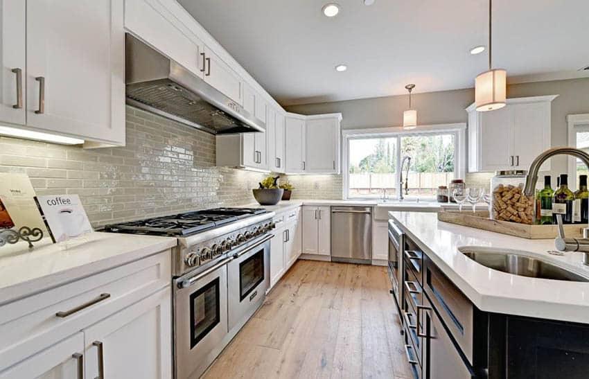 White Quartz Countertops Kitchen Design Ideas