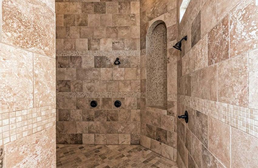 travertine shower ideas bathroom