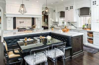 Beautiful Kitchen Islands with Bench Seating - Designing Idea