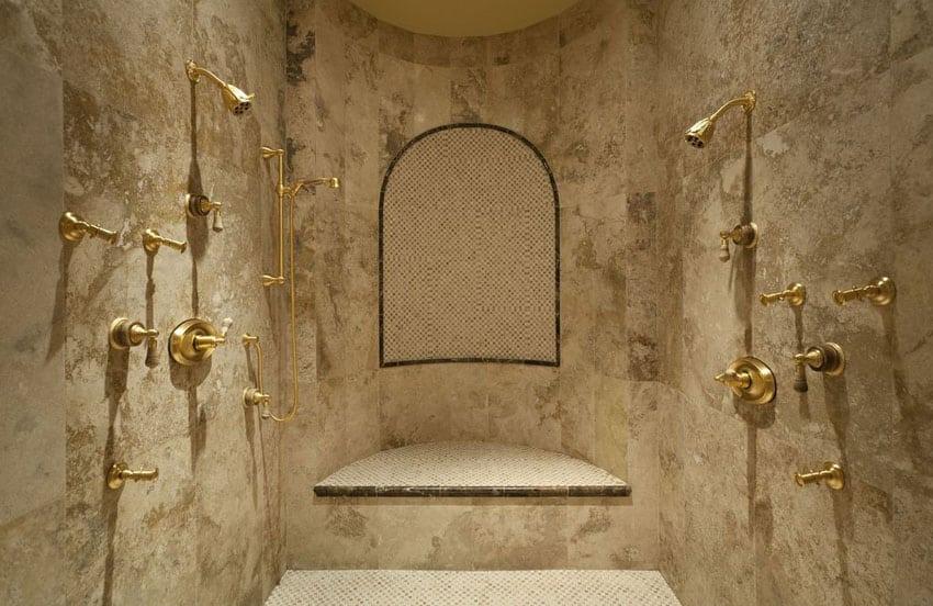 Travertine Shower Ideas (Bathroom Designs)