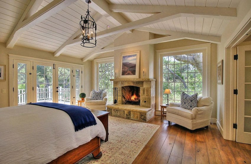 Luxury Master Bedrooms with Fireplaces  Designing Idea