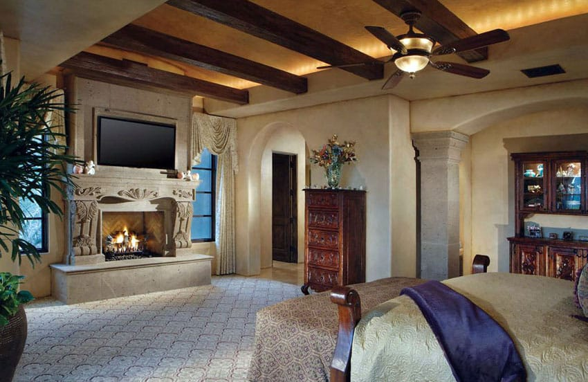 Luxury Master Bedrooms with Fireplaces