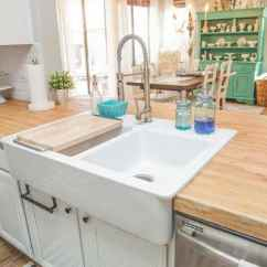 Country Kitchen Sink Distressed Island Butcher Block Types Of Sinks Ultimate Guide Designing Idea Small With White Cabinets Counters And Double Sided Farmhouse
