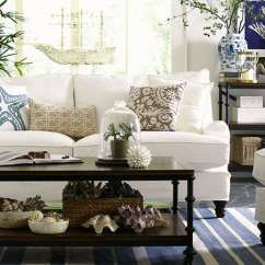 Beach Themed Sofa Pillows Decorating Around A Dark Brown Leather 19 Coastal Living Room Designs (decorating Ideas ...