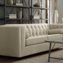 Tufted Leather Sofa With Rolled Arms Waterproof Cover Amazon Styles (guide To Buying The Right Sofa) - Designing Idea