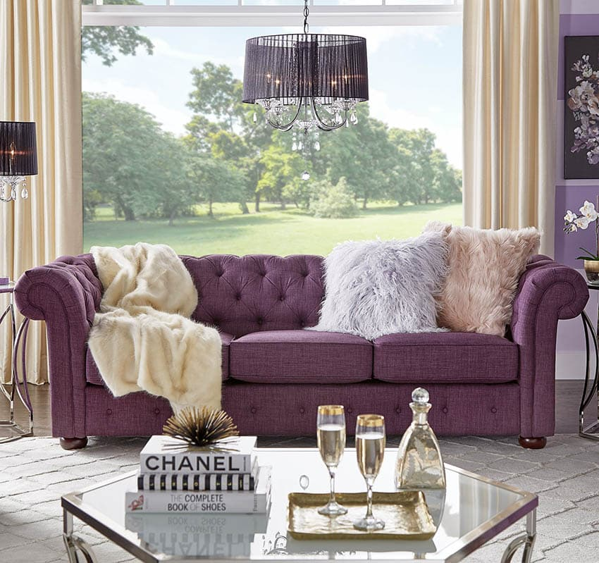 bright colored sofa pillows art van gray leather how to choose the right couch colors for your living room ...