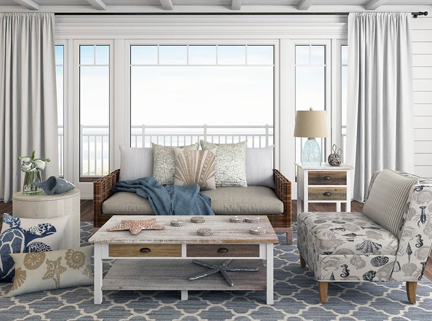 Beach Themed Living Room on a Budget  Designing Idea