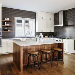 Colored Kitchen Islands Back Splash Ideas Gorgeous Contrasting Island Pictures Designing Idea With Brown Cabinets Against White Main Cabinetry