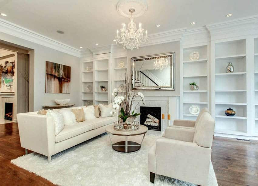 beautiful living room pictures ideas home painting white design designing idea with built in bookshelves shag carpet wood floors and chandelier