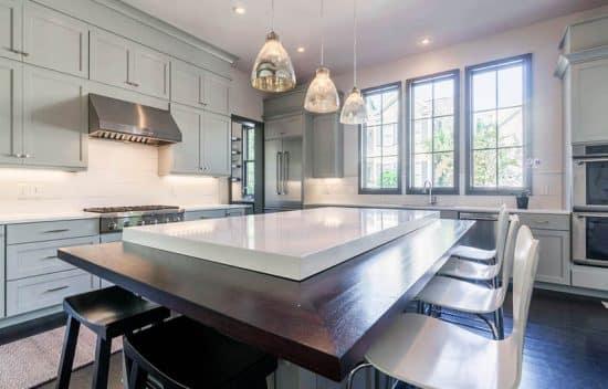 White Quartz Countertops Kitchen Design Ideas  Designing Idea