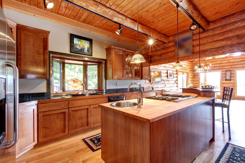 Log Cabin Kitchens Cabinets  Design Ideas  Designing Idea
