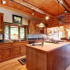 Kitchen Island Pendant Lights High Chairs Log Cabin Kitchens (cabinets & Design Ideas) - Designing Idea