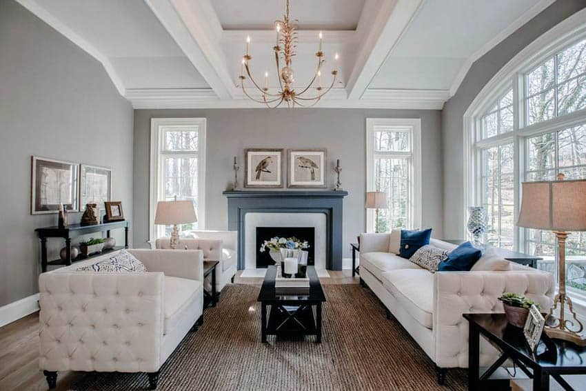 beautiful living room pictures ideas modern high ceiling design for remodel designing idea with white furniture gray paint fireplace and chandelier
