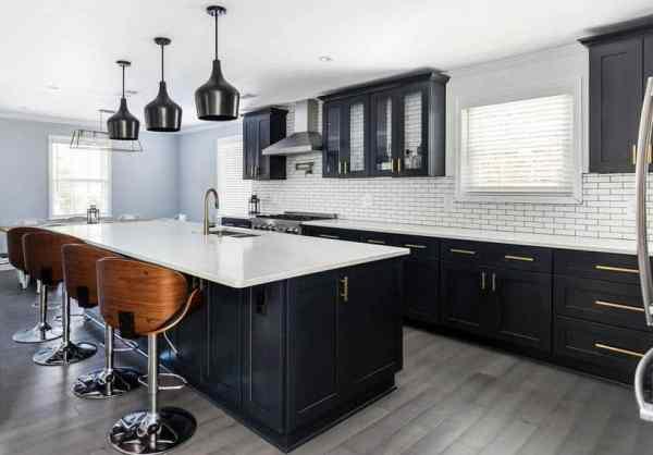 beautiful black kitchen cabinets Beautiful Black Kitchen Cabinets (Design Ideas
