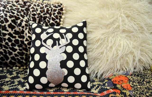 DIY kumaş yatak odası yastıkları