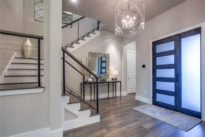 60 Gorgeous Stair Railing Ideas Designing Idea | Metal Railing Designs Stairs | Front Porch Stair Railing | Banister | Residential | Caramel | Rustic