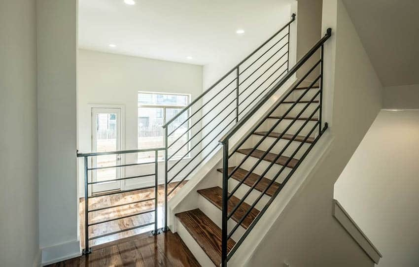 60 Gorgeous Stair Railing Ideas Designing Idea | Aluminum Stair Railings Interior | Wrought Iron | Iron Staircase | Cable | Outdoor | Handrail