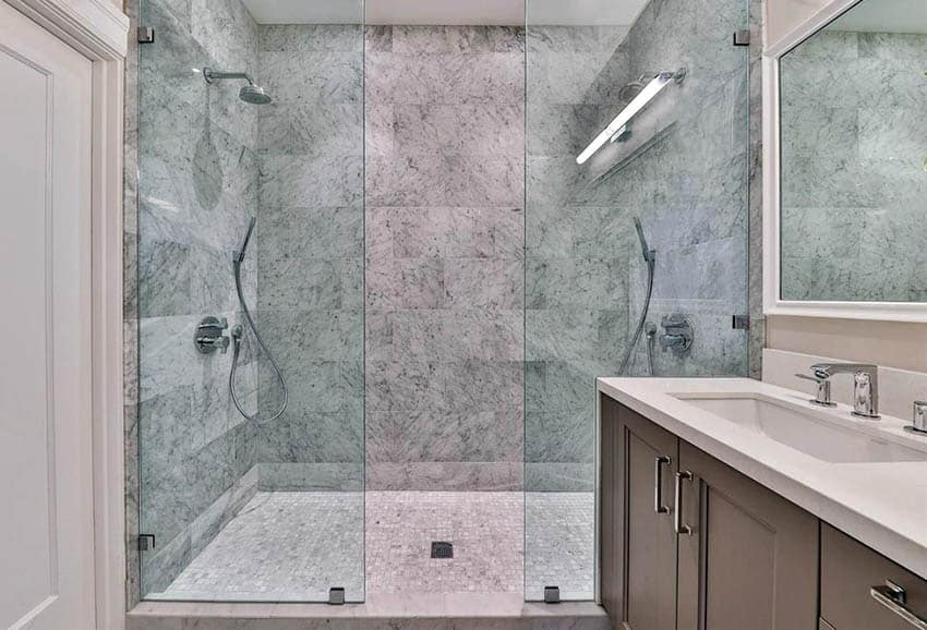 marble shower design guide