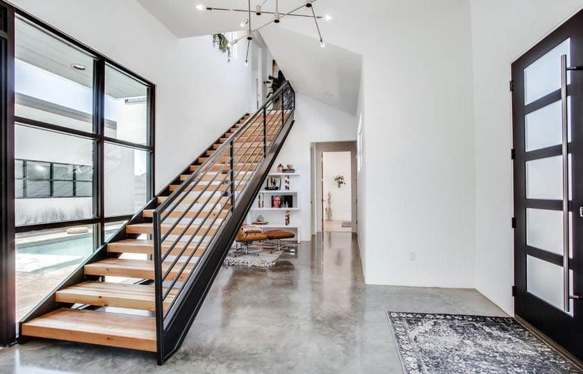 Indoor Stair Railing Design Designing Idea | Wood And Metal Handrail | Interior | Iron Railing | Architectural Modern Wood Stair | Stainless Steel | Traditional