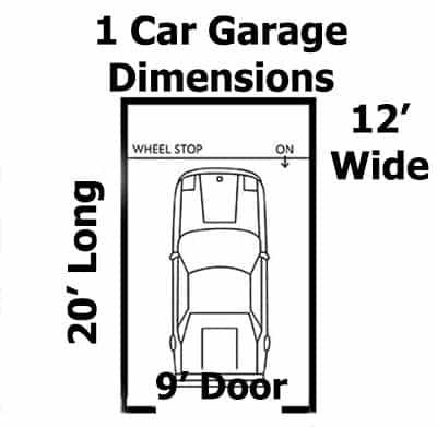 1 araba garajı ölçüleri