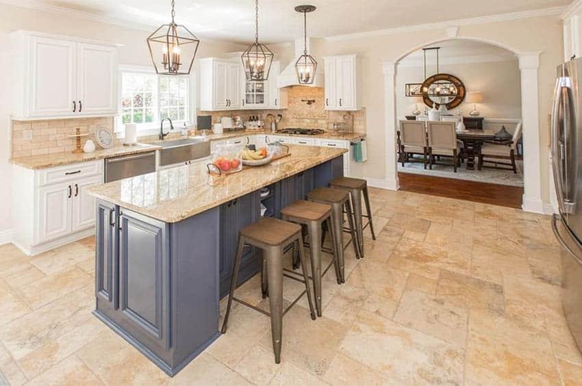 types of kitchen floor tiles design