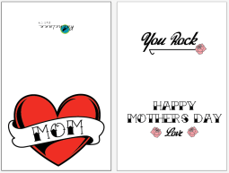 A mother's day card I sold on etsy