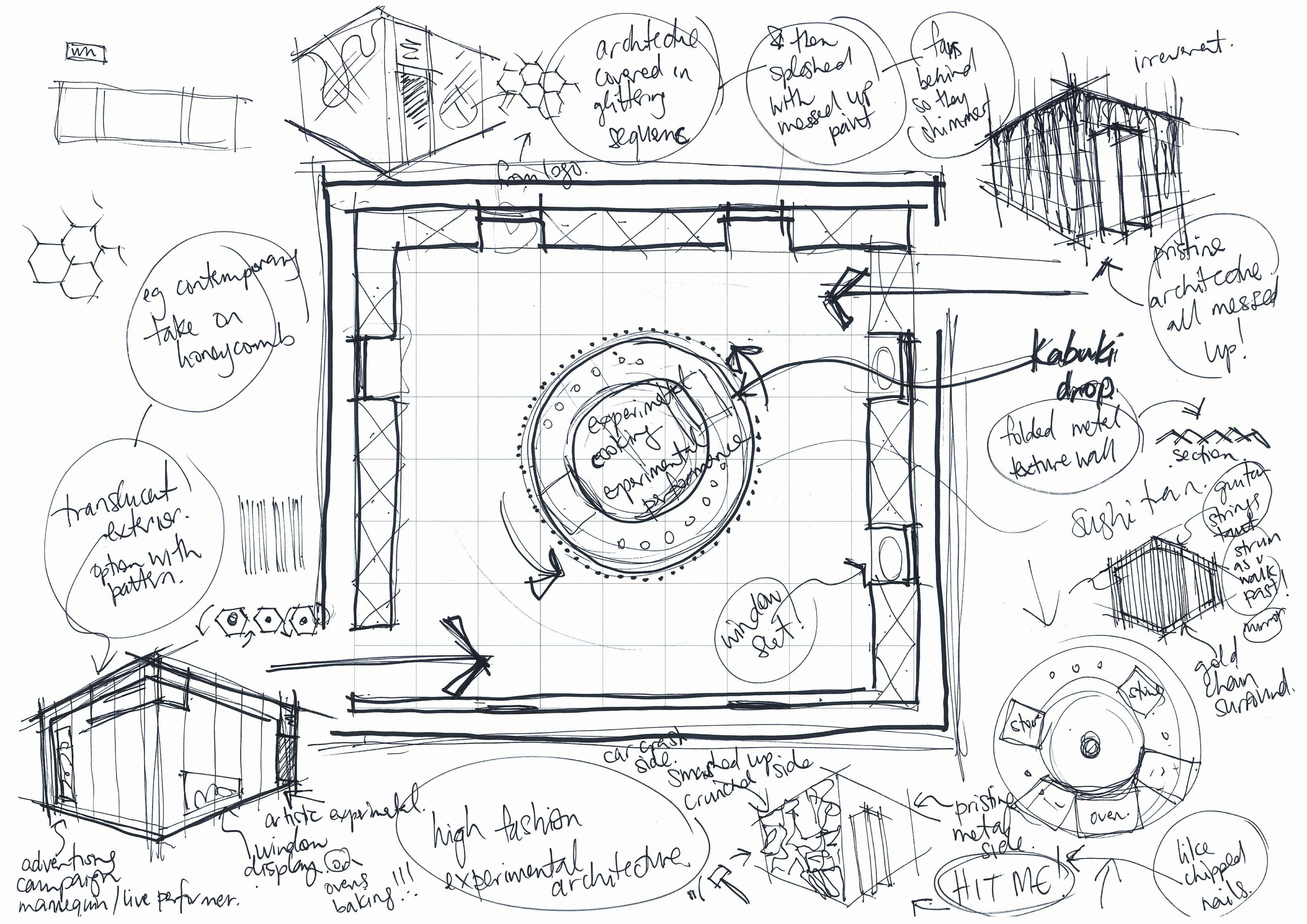 Bubble Diagrams And Rough Sketches