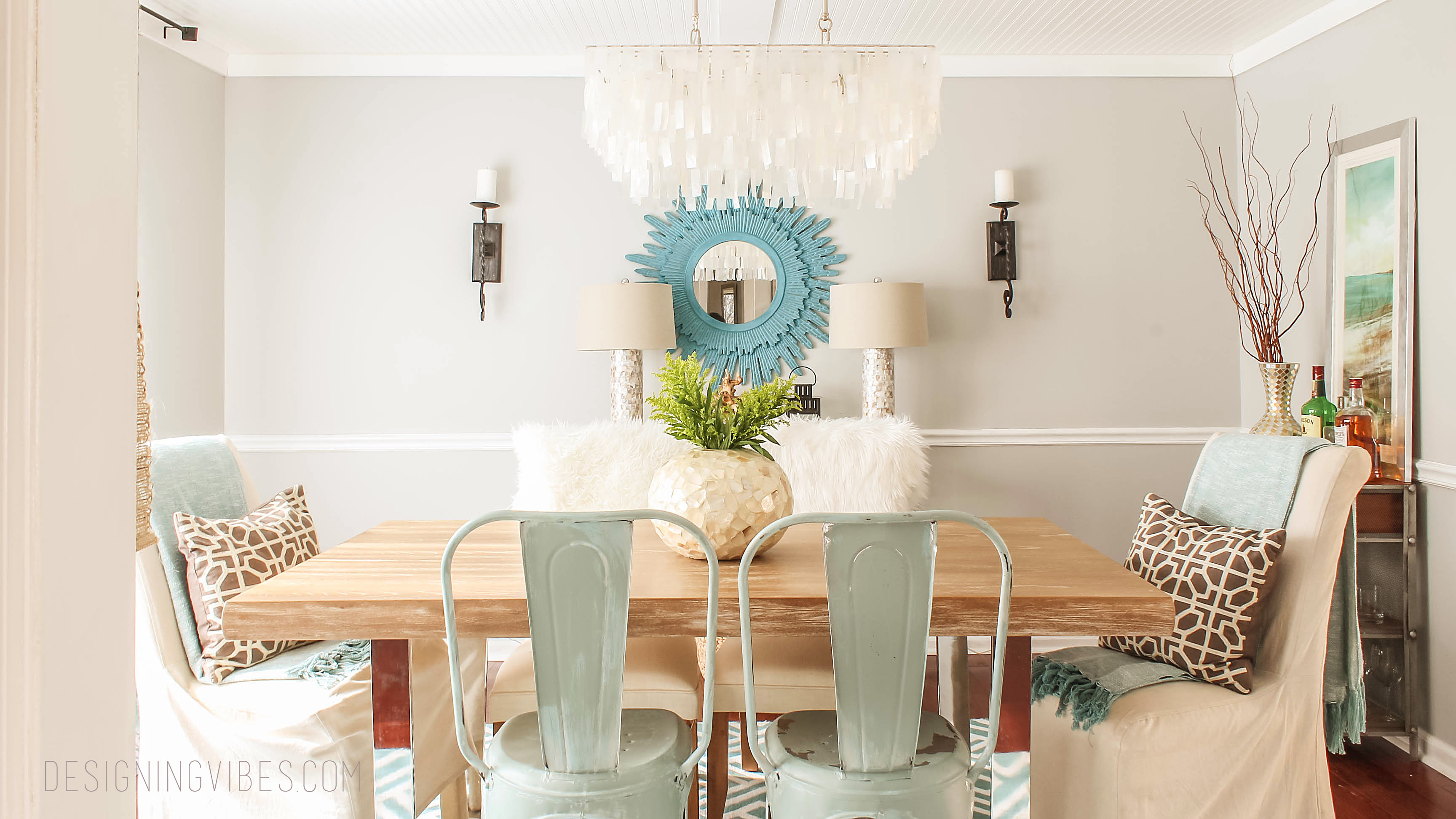 Bringing rustic coastal vibes to my dining room for My dining room