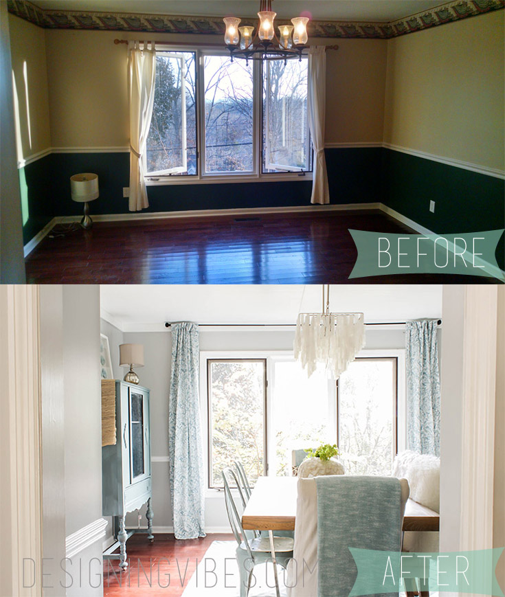 dining room diy makeover