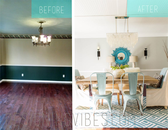 light and airy dining room transformation