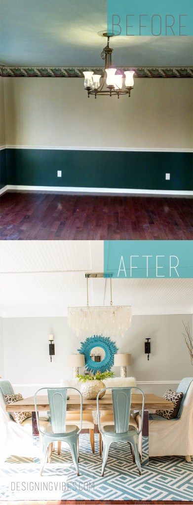 diy cheap dining room makeover