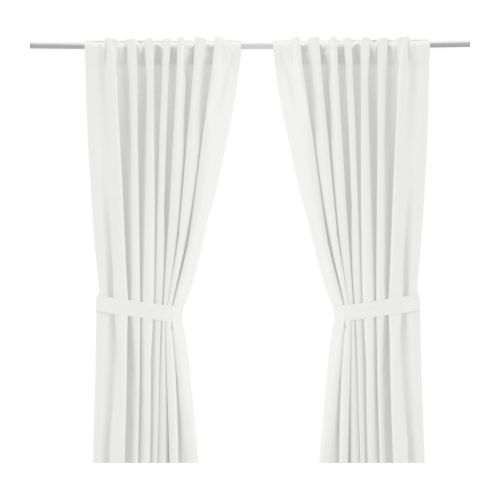 white ikea ritva curtain hack