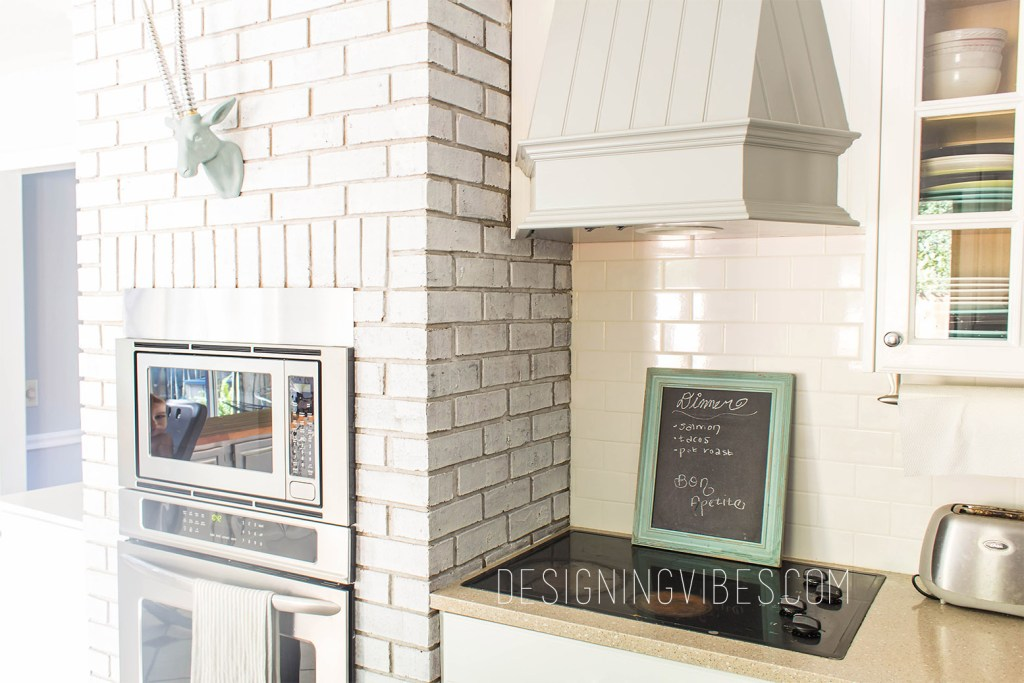 subway tile and white cabinets