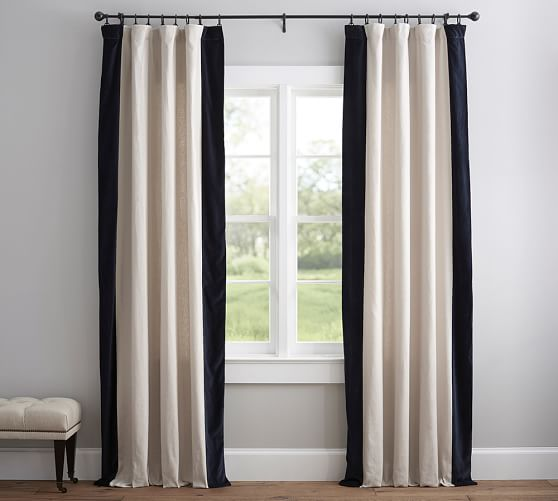 ikea ritva curtain hack no sew curtain makeover diy tutorial. Black Bedroom Furniture Sets. Home Design Ideas