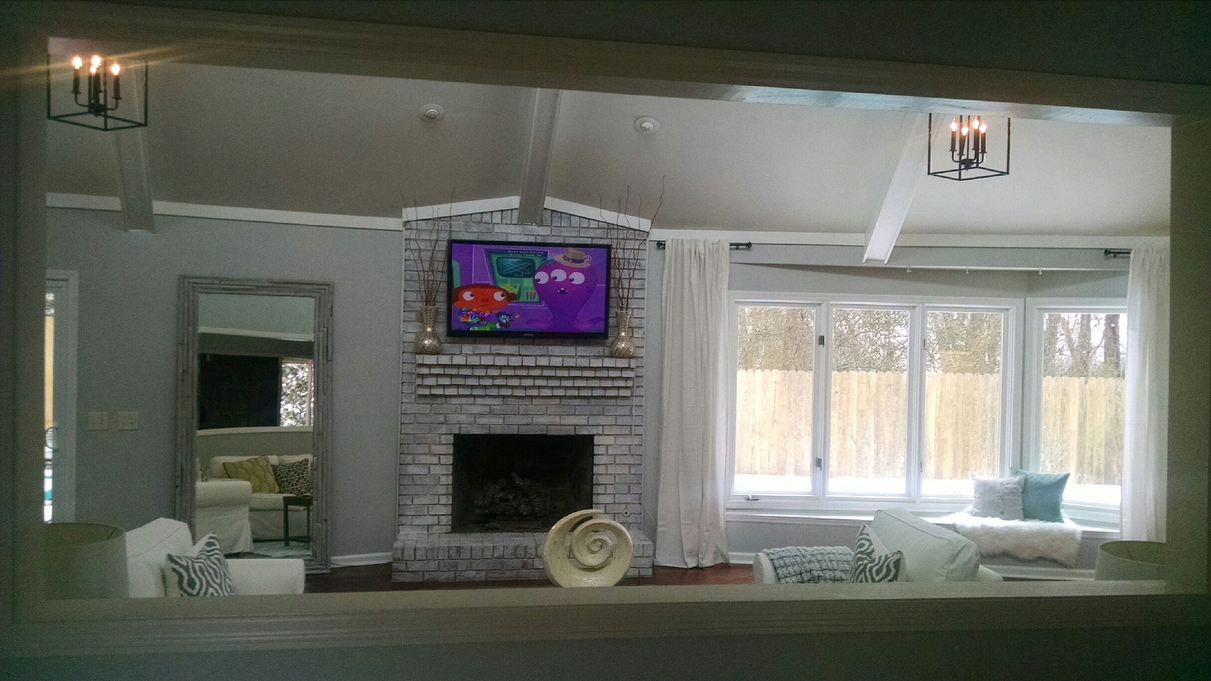 100 the lettered cottage fireplace redo brick fireplace
