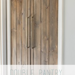 Diy Kitchen Pantry Cabinet Plans 42 Inch Cabinets 8 Foot Ceiling Double Barn Door Under $90- Bifold