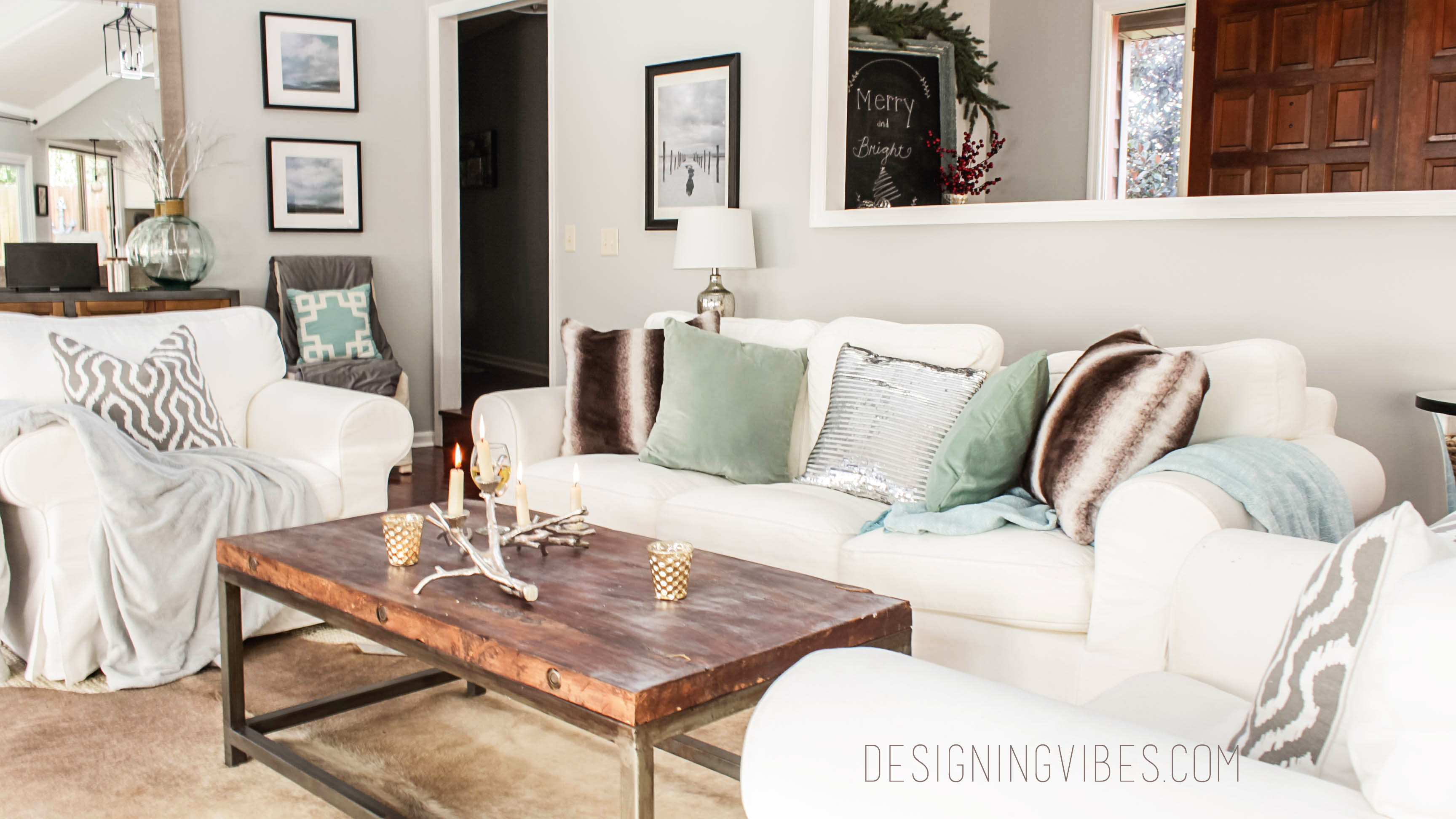 Rustic glam holiday decor home tour part 1 for Northwoods decor