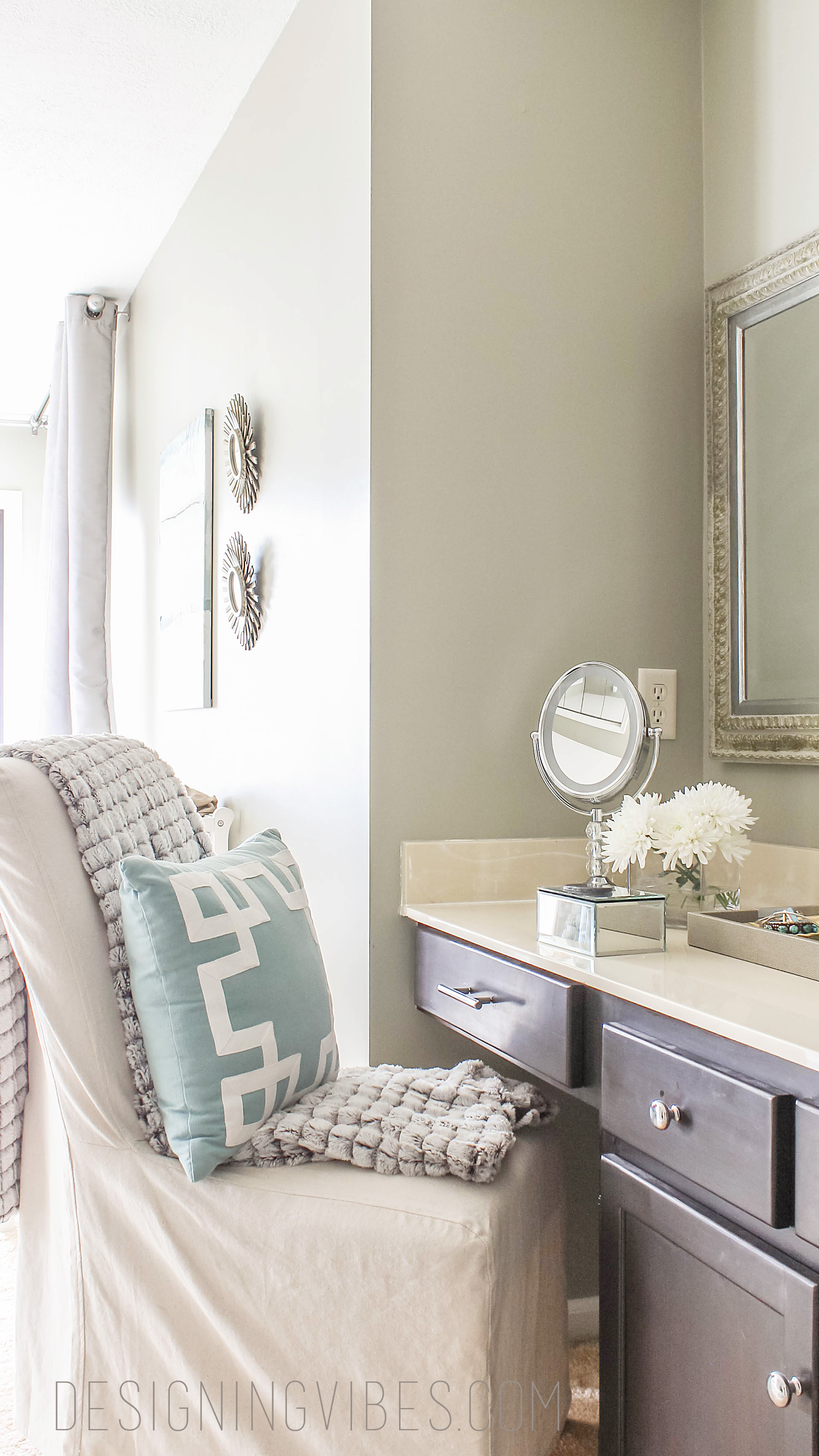 Makeup Vanity Makeover - Designing Vibes - Interior Design, DIY and ...