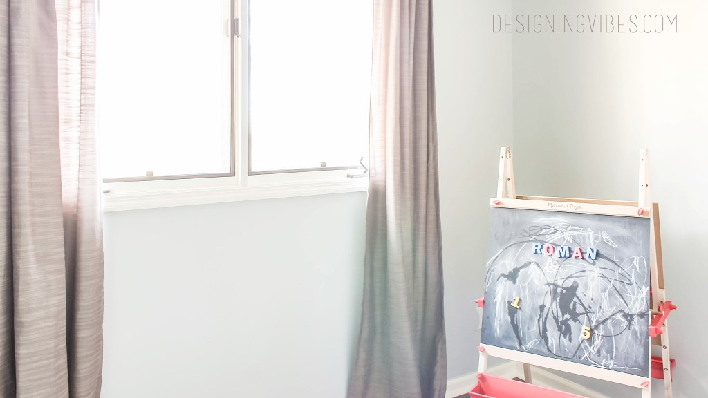 grey and blue toddler boy bedroom